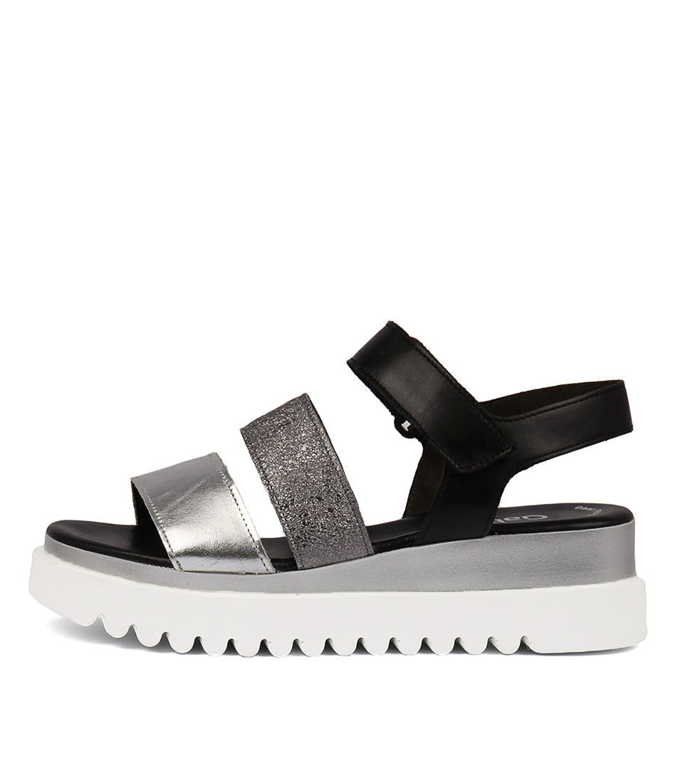 Gabor Meggy Black Multi Sandals