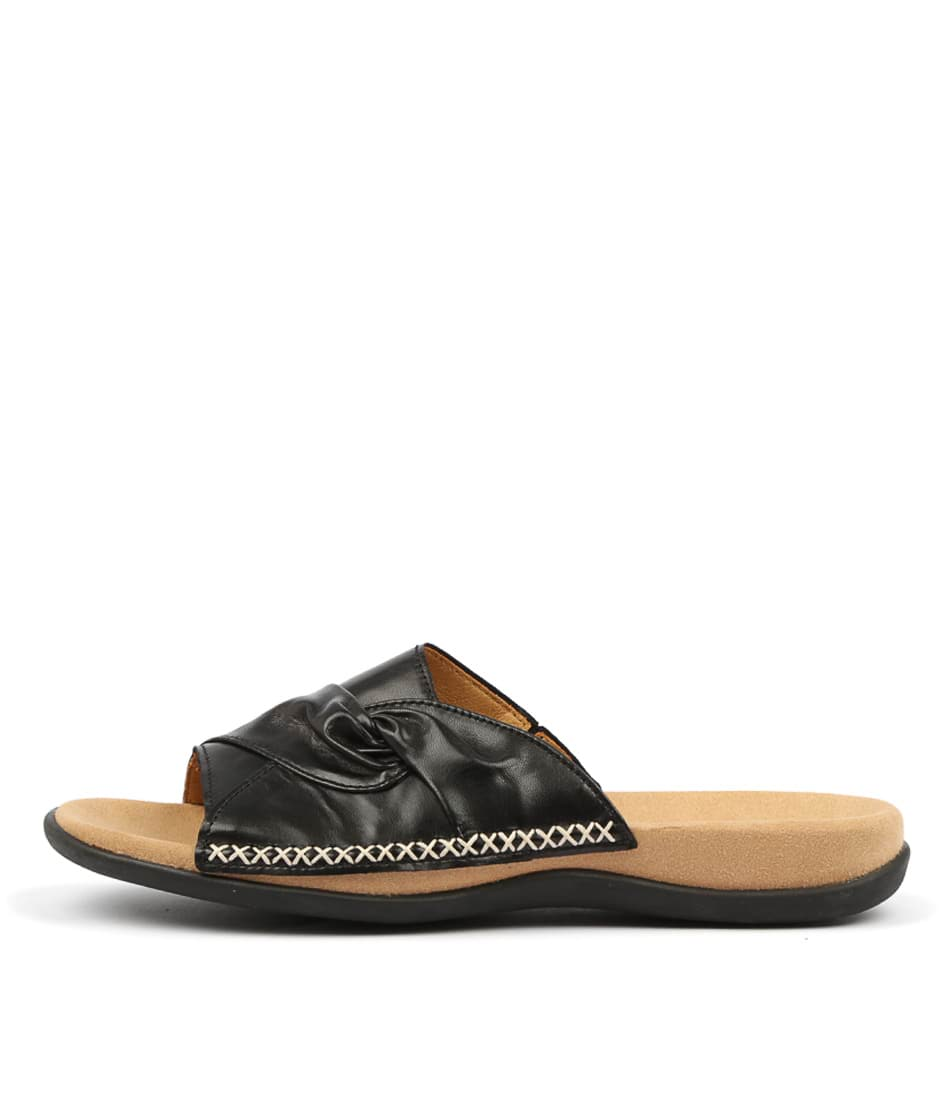 Buy Gabor Robie Schwarz Flat Sandals online with free shipping