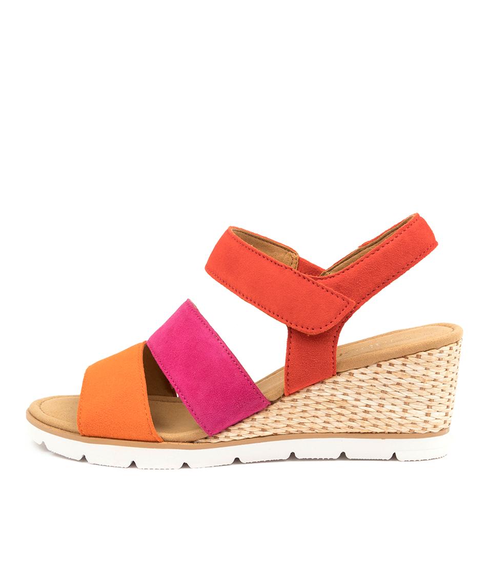 Buy Gabor Frankie Ga Orange Multi Heeled Sandals online with free shipping