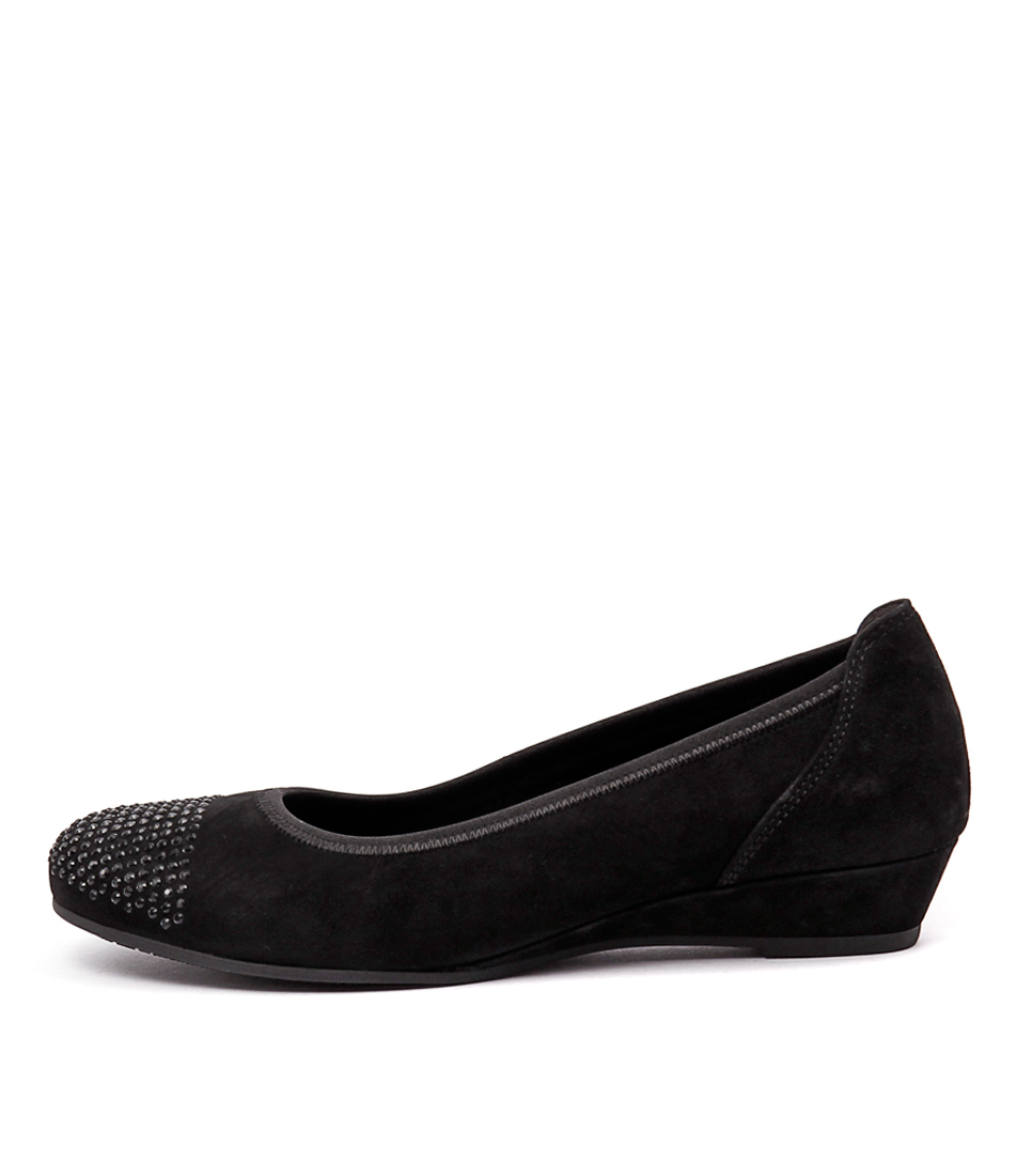 Gabor Dorothy Schwarz Dress Flat Shoes