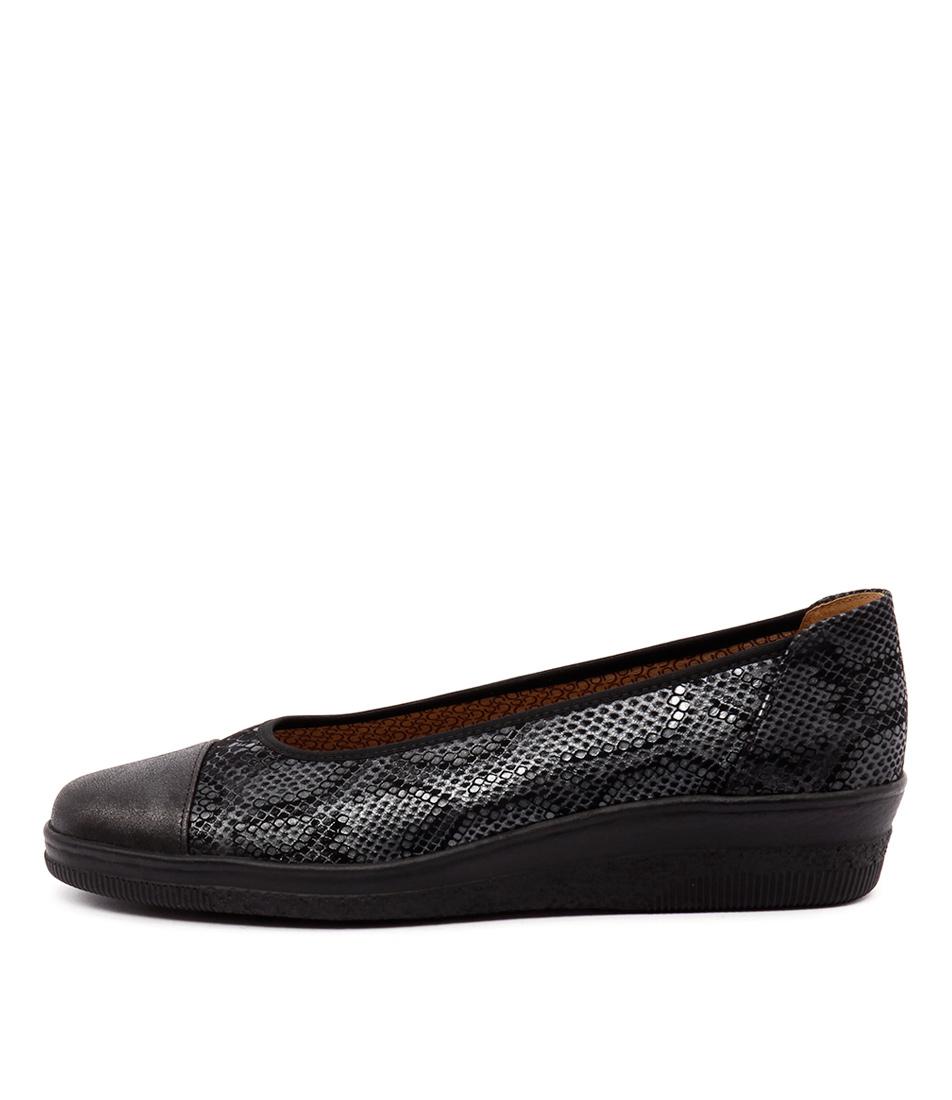 Gabor Yvette Anthrazit Schwarz Shoes