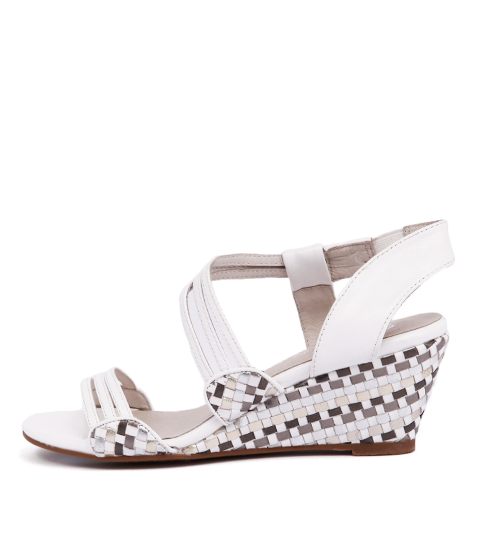 Gamins Cruise White Metallic Multi Casual Heeled Sandals buy  online