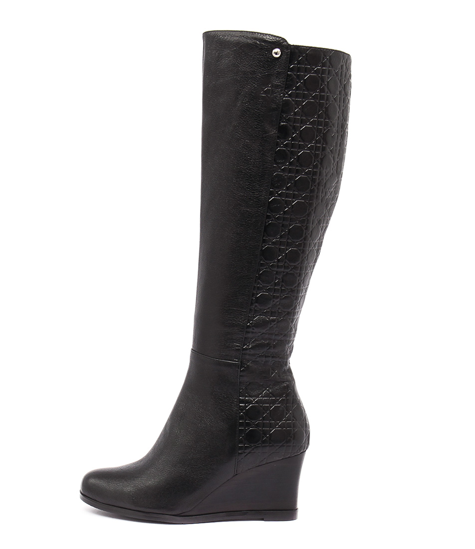 Gamins Decoy Black Black Print Dress Long Boots