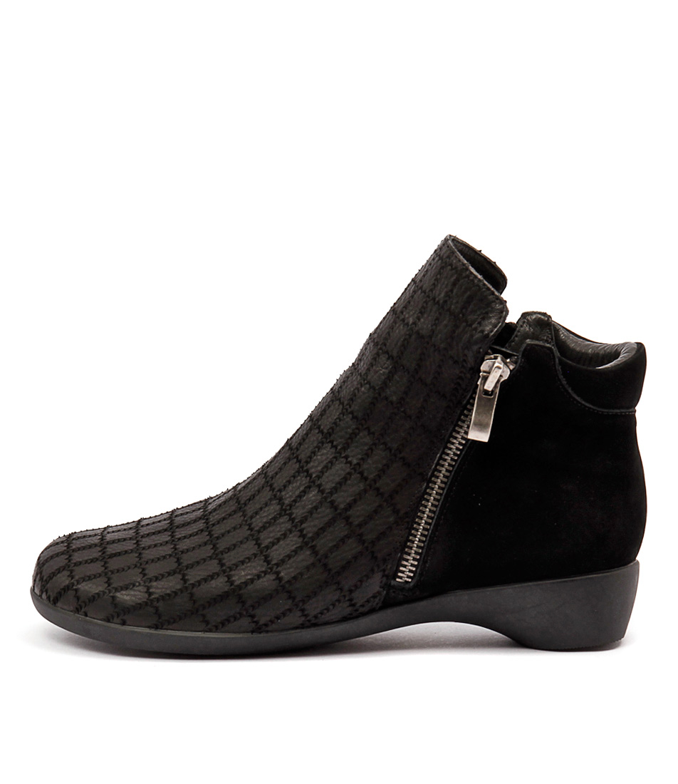 Gamins Else Black Mix Ankle Boots