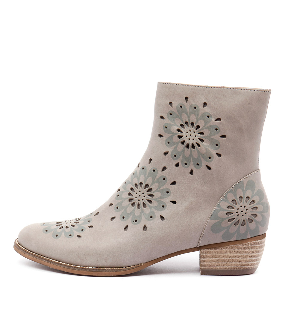 Gamins Jenny Grey Casual Ankle Boots