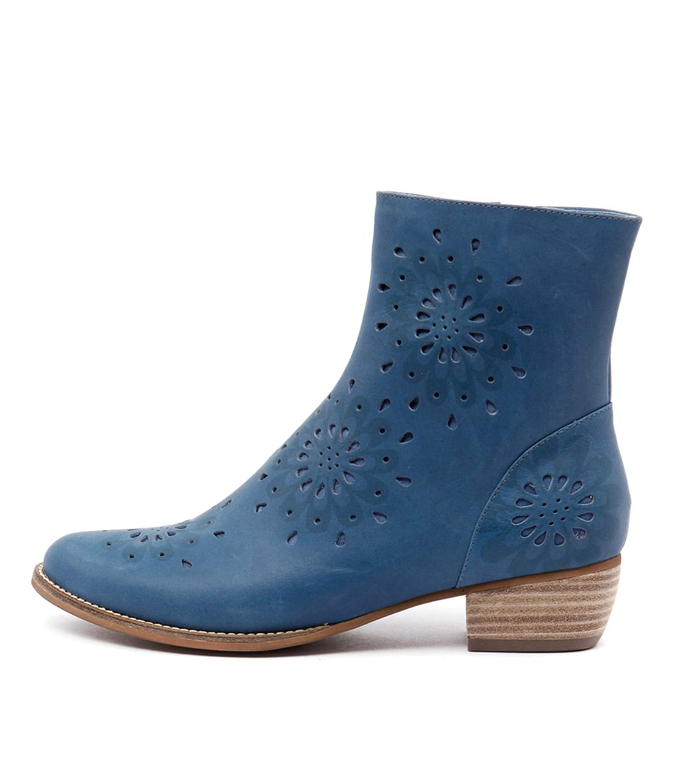Gamins Jenny Blue Casual Ankle Boots
