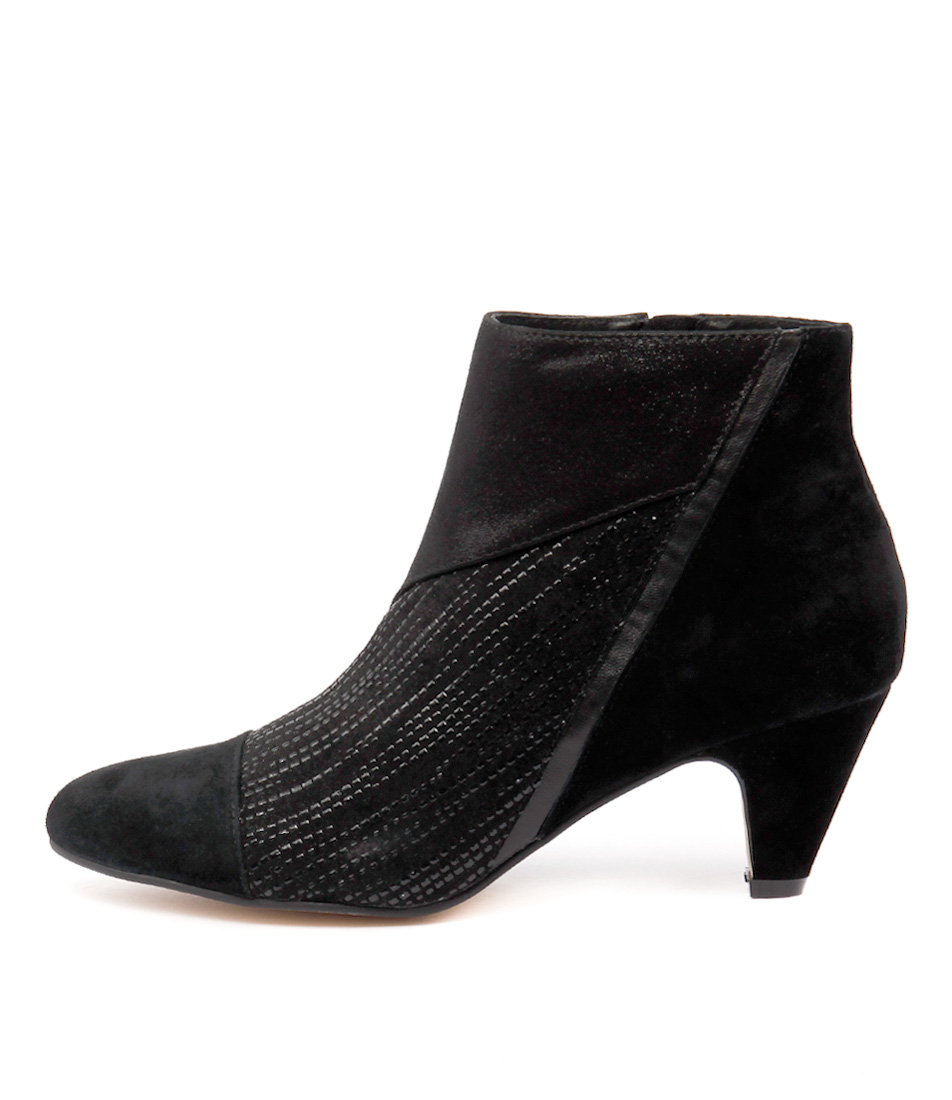 Gamins Pedros Black Mix Dress Ankle Boots