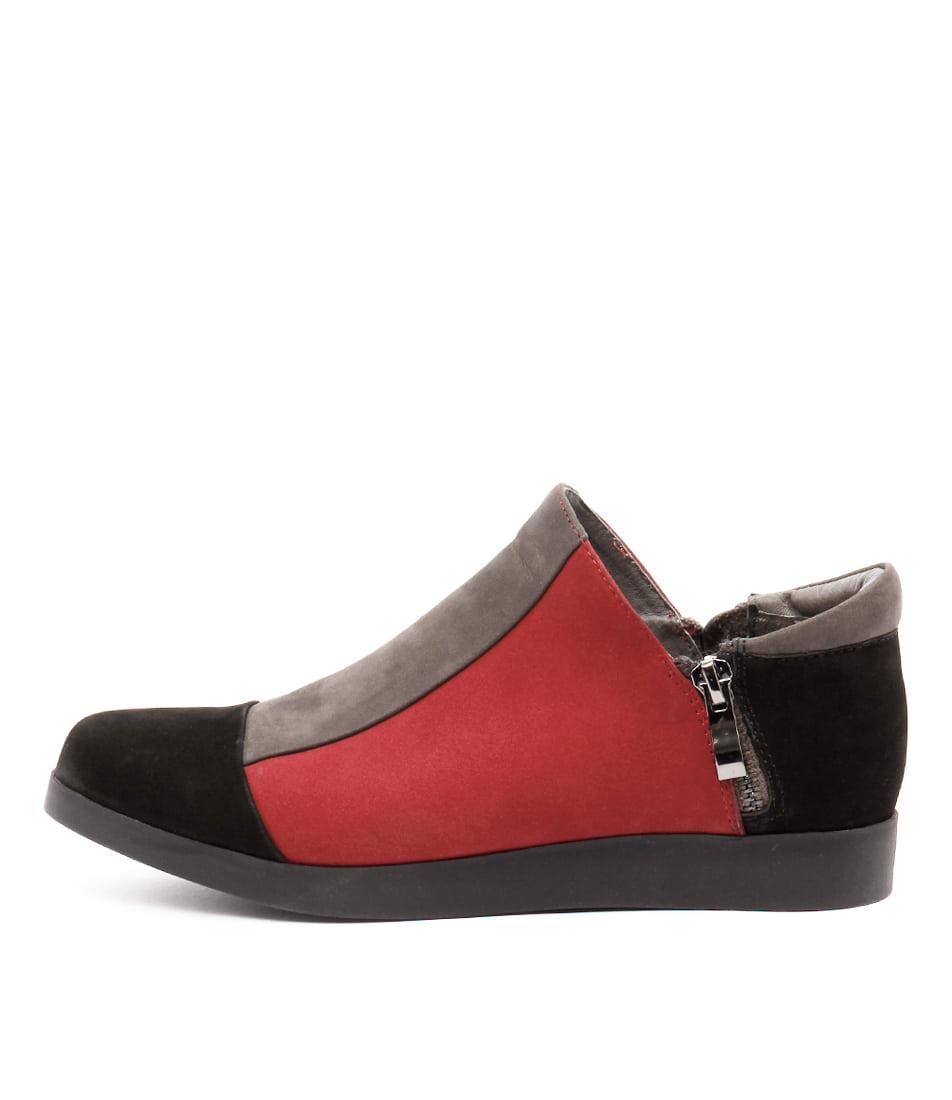 Gamins Renew Black Dk Grey D Shoes