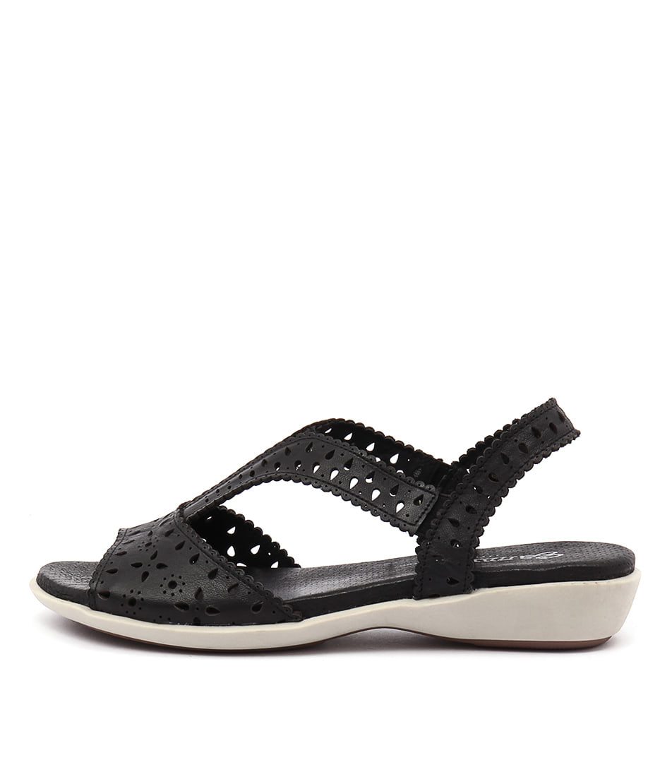 Gamins Bite Black Sandals