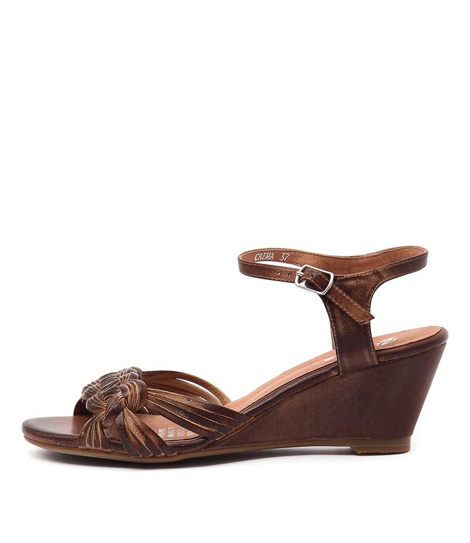 Gamins Crema Tan Casual Heeled Sandals