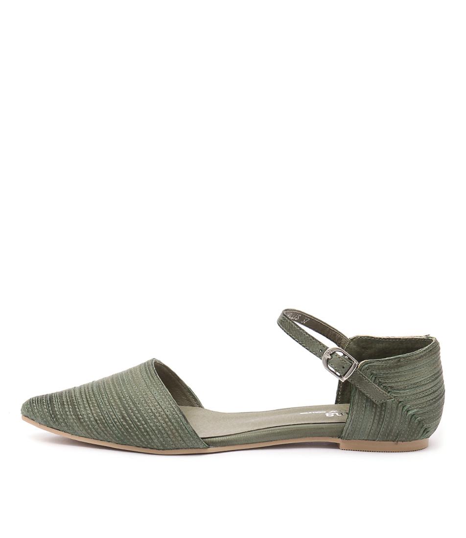 Gamins Hollis Khaki Flat Shoes