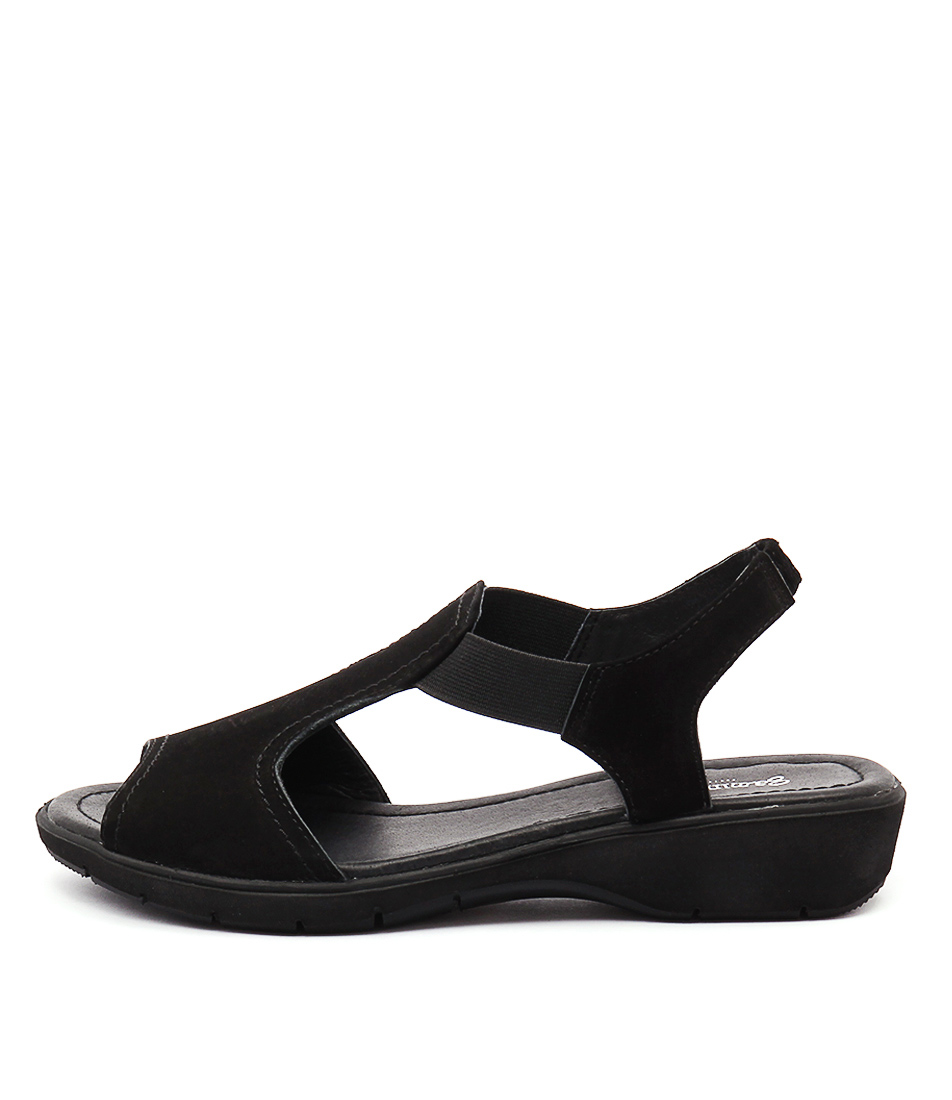 Gamins Kapok Black Sandals