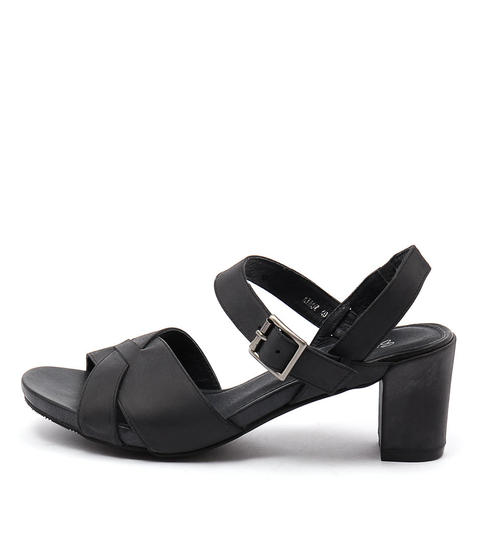 Gamins Miaow Black Sandals