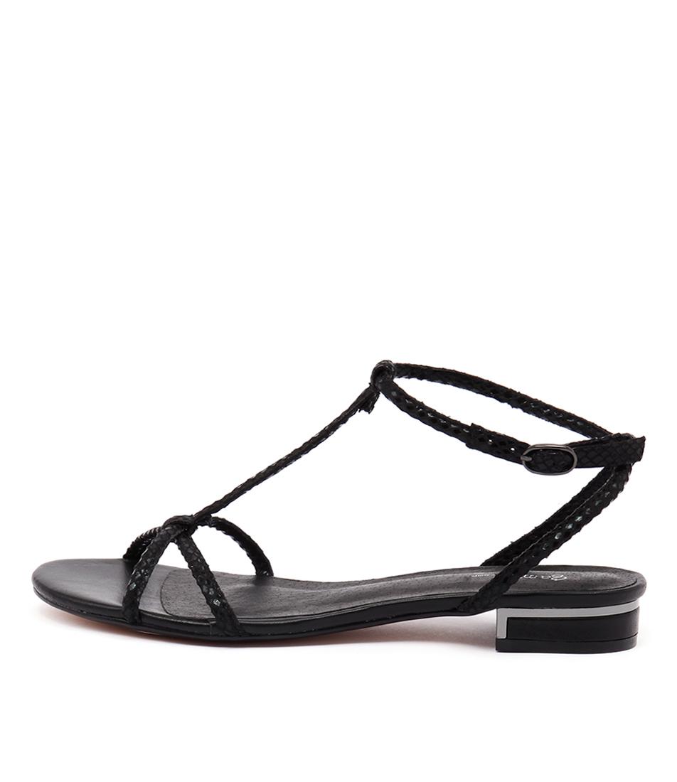 Gamins Nisala Black Metallic Sandals