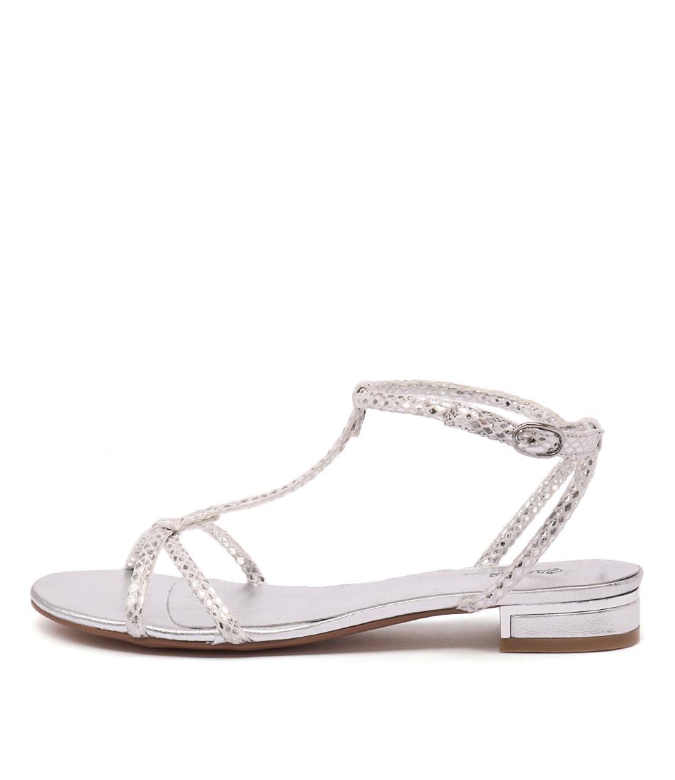 Gamins Nisala Silver Metallic Sandals
