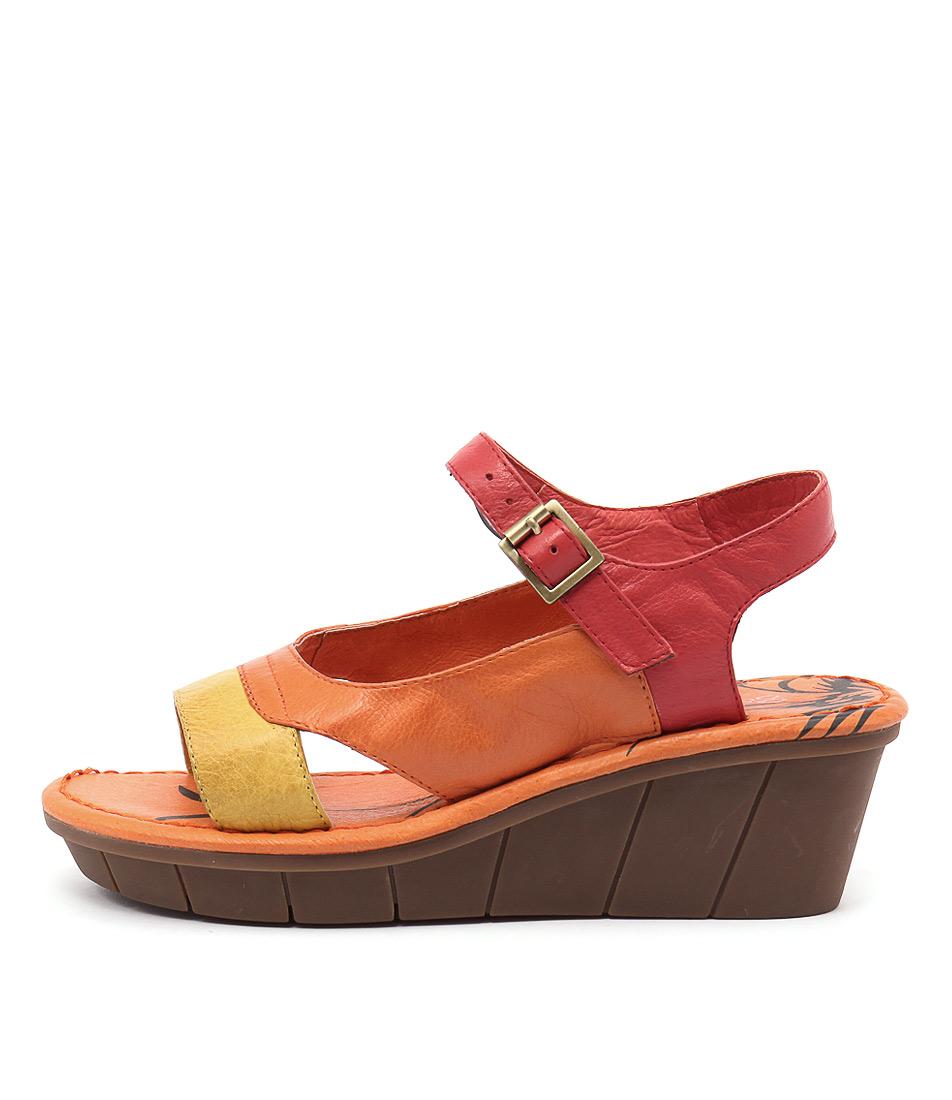 Gamins Ozone Yellow Multi Sandals