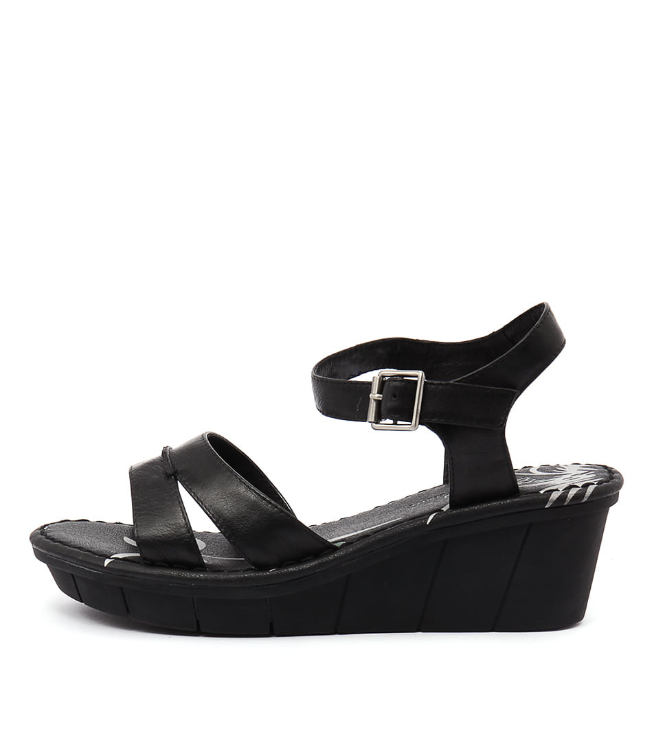 Gamins Onzess Black Sandals