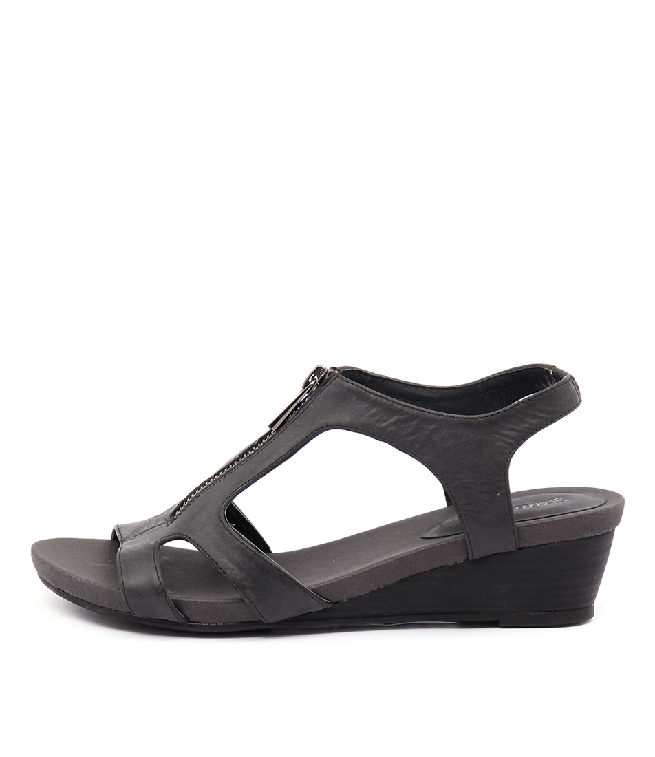 Gamins Rangle Black Sandals