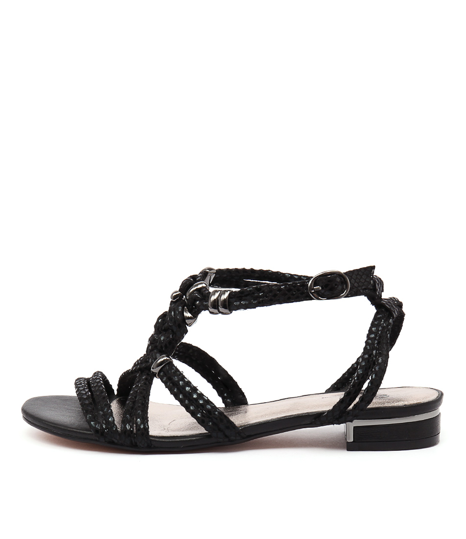 Gamins Naurite Black Metallic Sandals