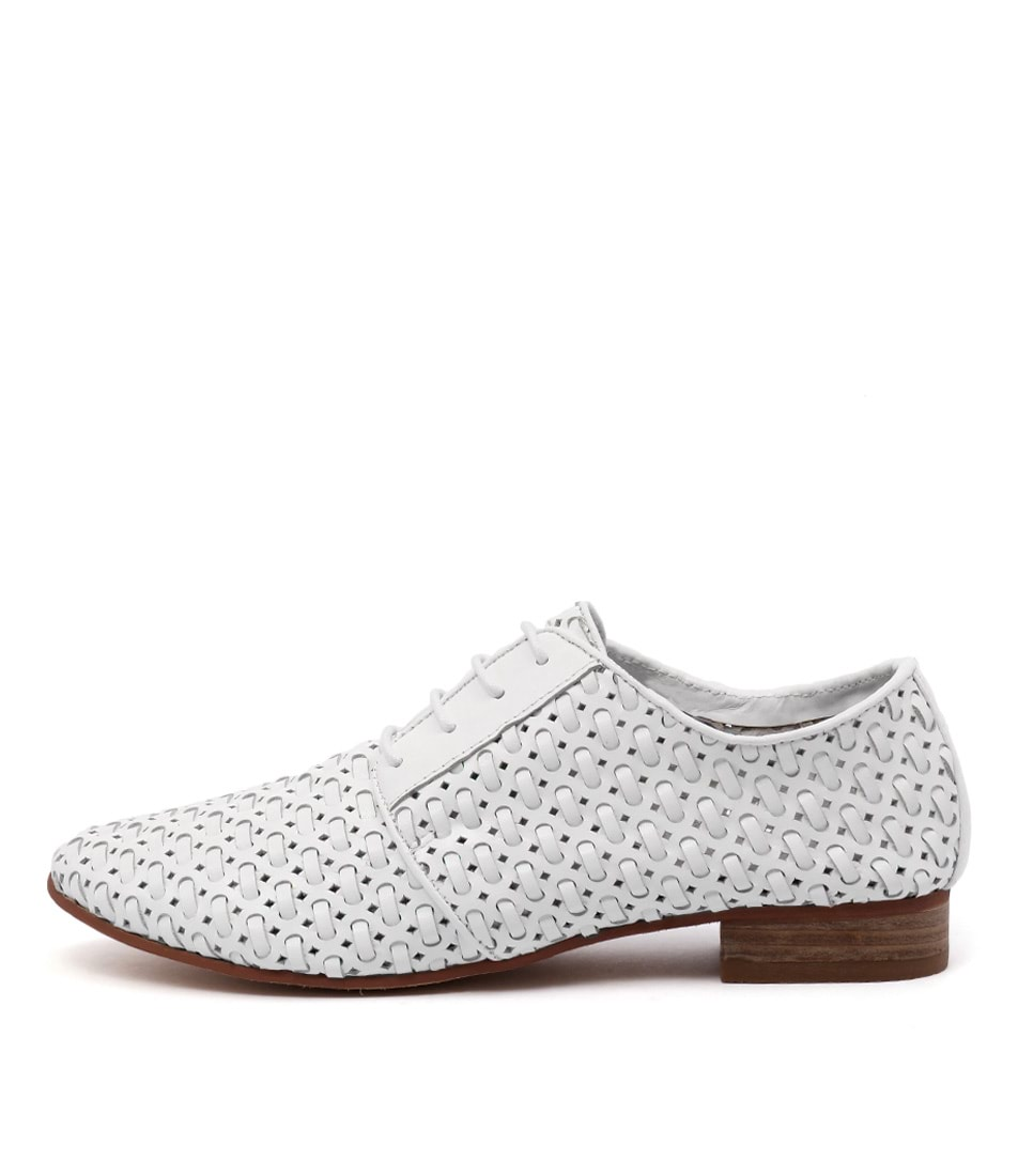 Gamins Addle White Flat Shoes