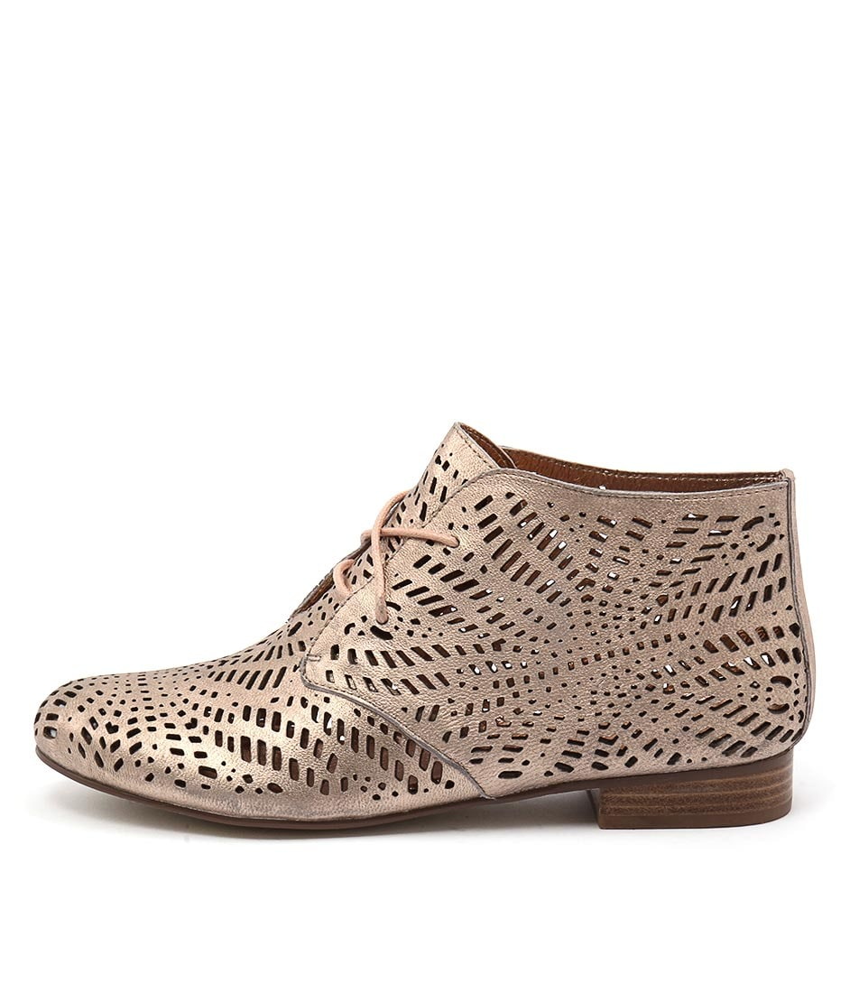 Gamins Alace Rose Gold Casual Ankle Boots