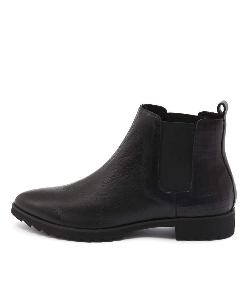 Gamins Babette Black Ankle Boots