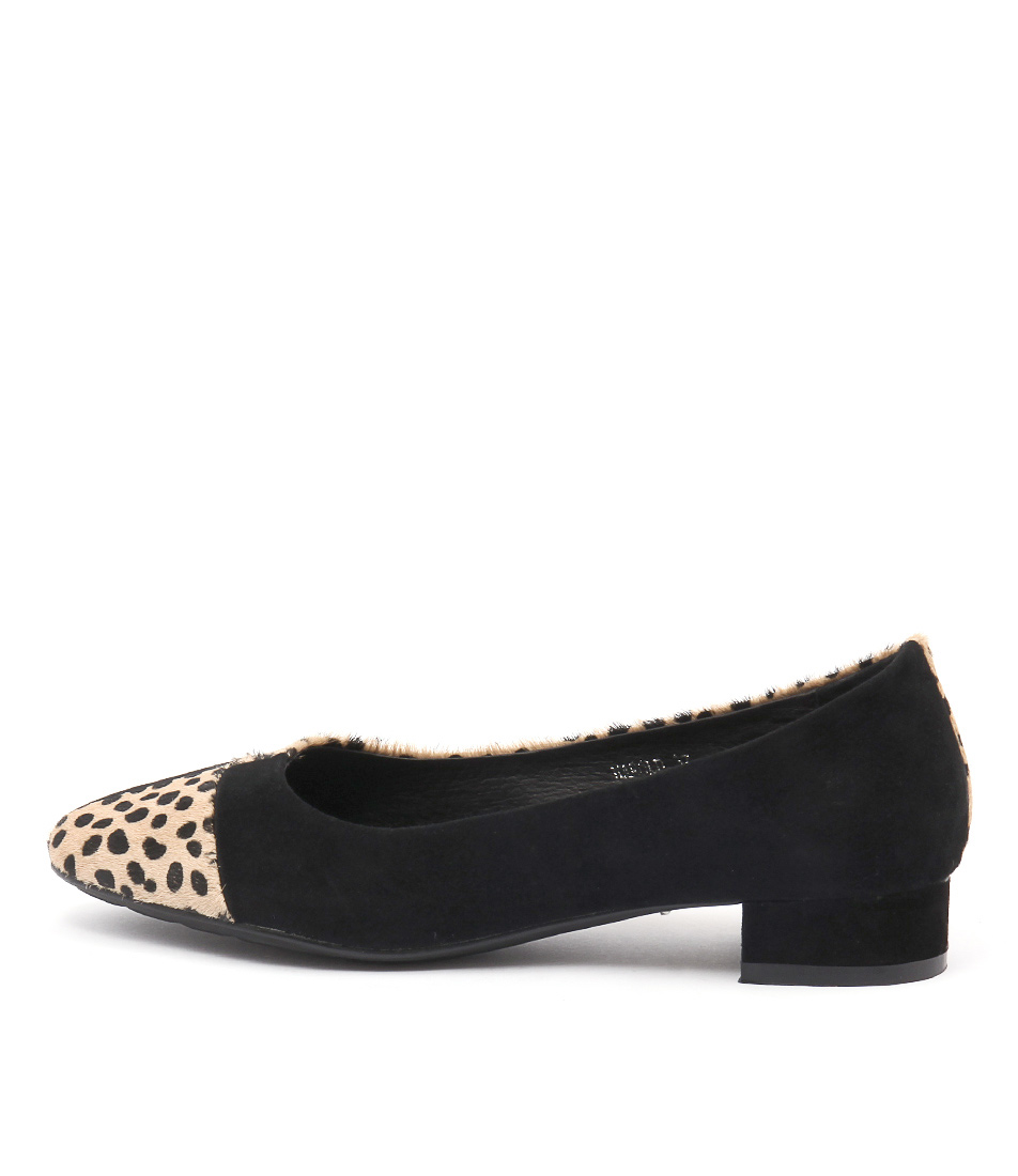 Gamins Harold Black Ocelot Black Flat Shoes