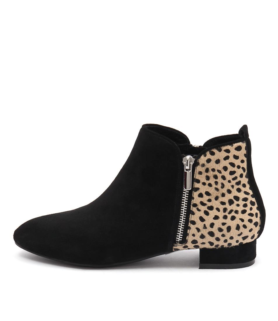 Gamins Horick Black Ocelot Black Flat Shoes