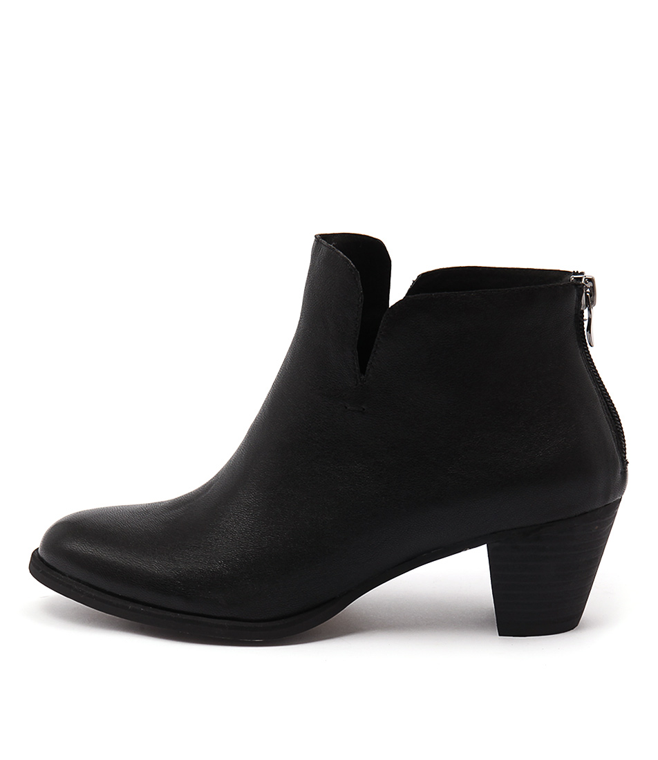 Gamins Imper Black Ankle Boots