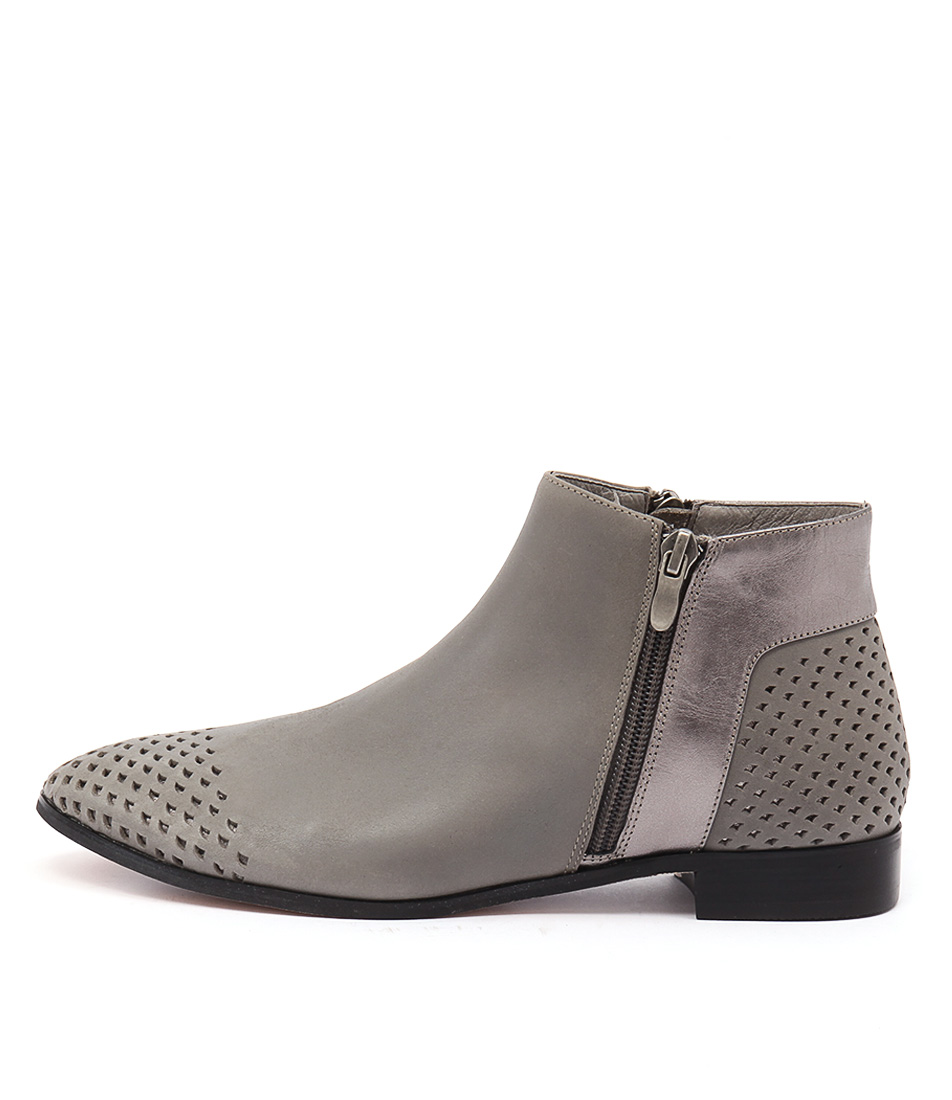 Gamins Jetset Grey Lt Pewter Casual Ankle Boots buy  online
