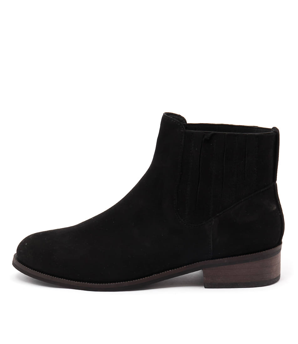 Gamins Laska Black Casual Ankle Boots