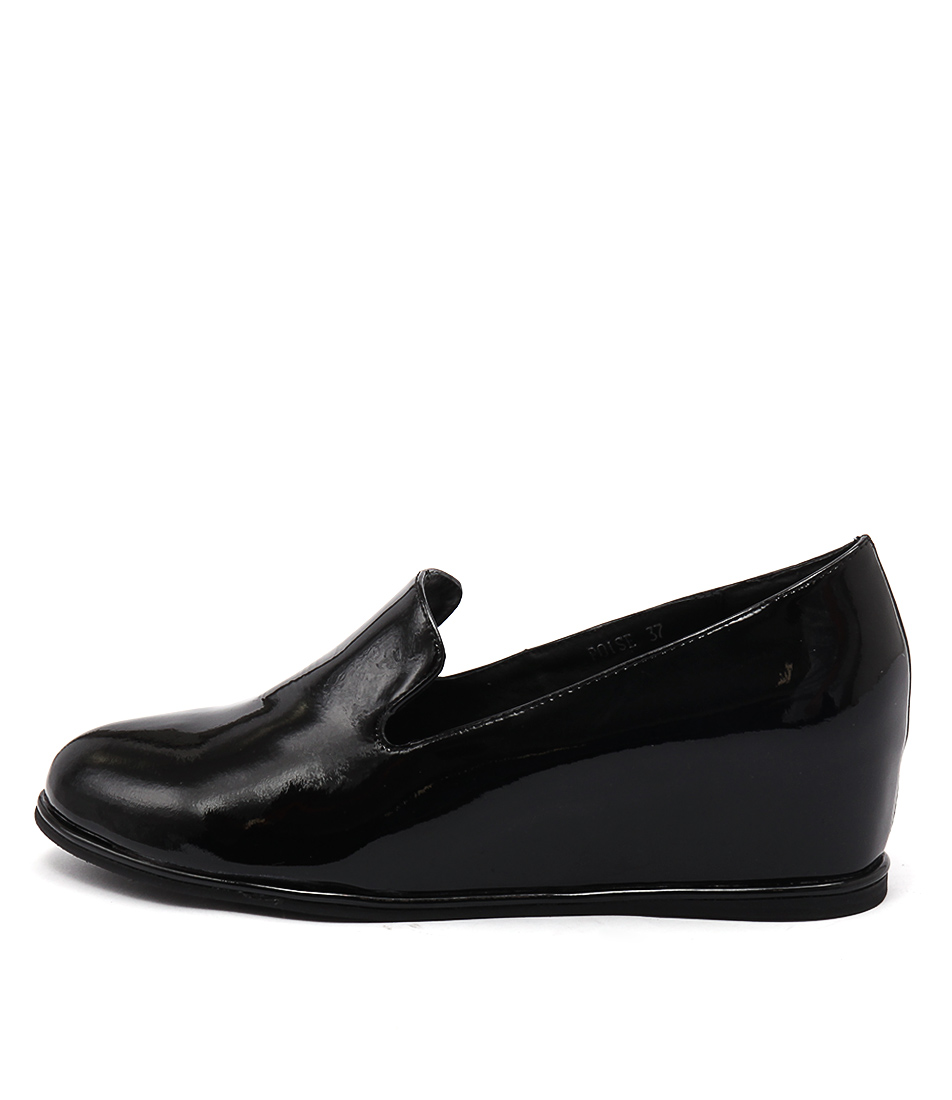 Gamins Poise Black Flat Shoes