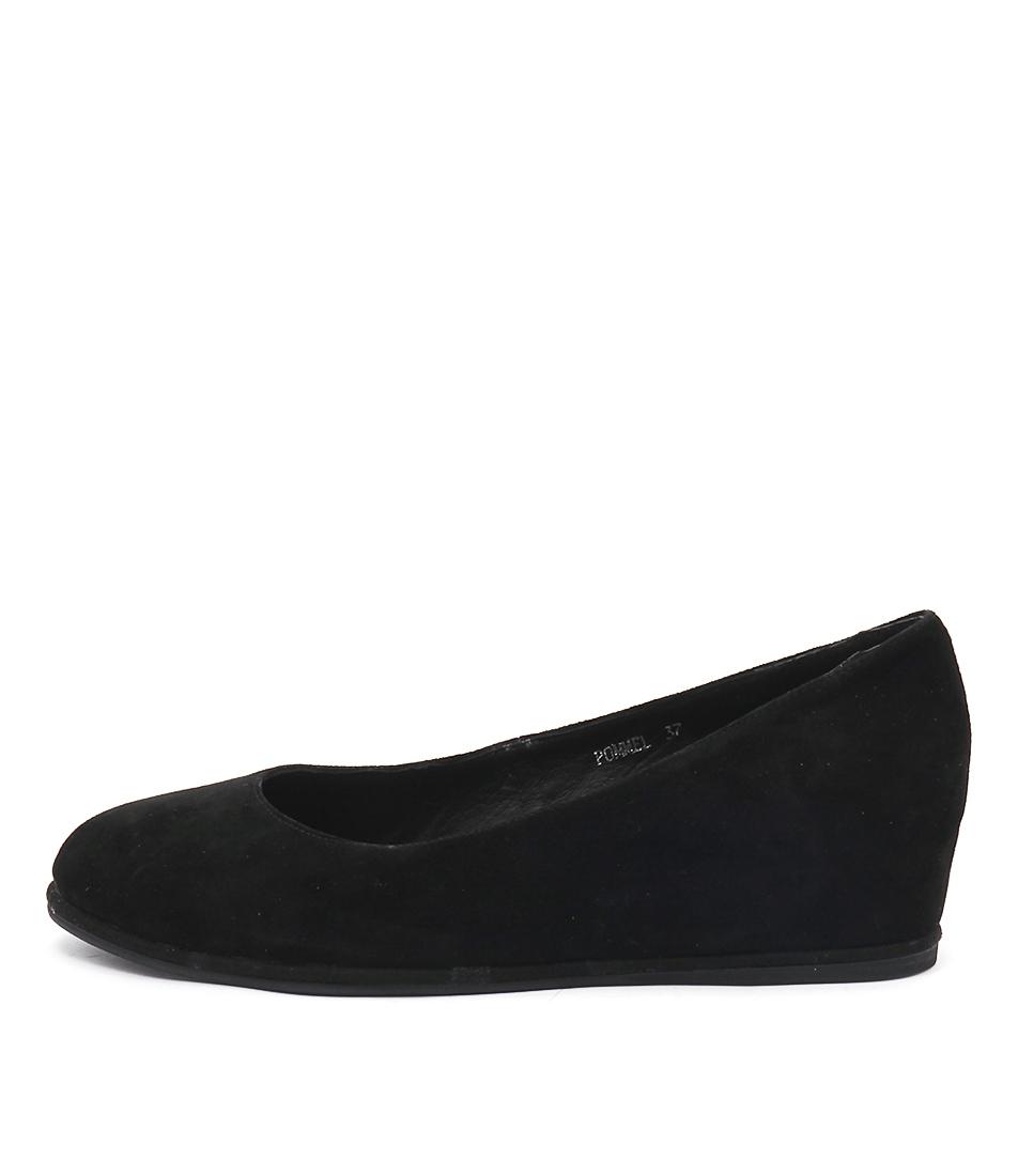 Gamins Pommel Black Shoes