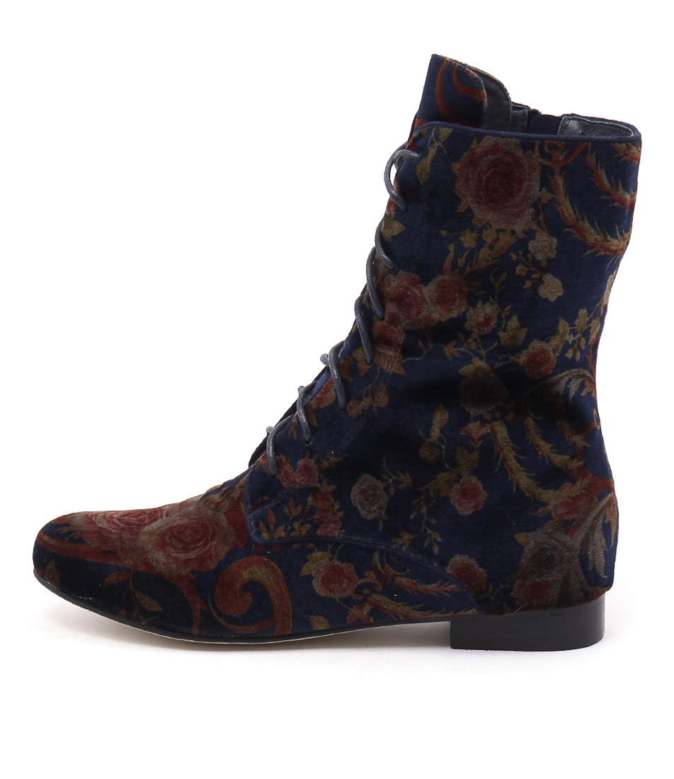 Gamins Grumpa Blue Floral Casual Ankle Boots buy  online
