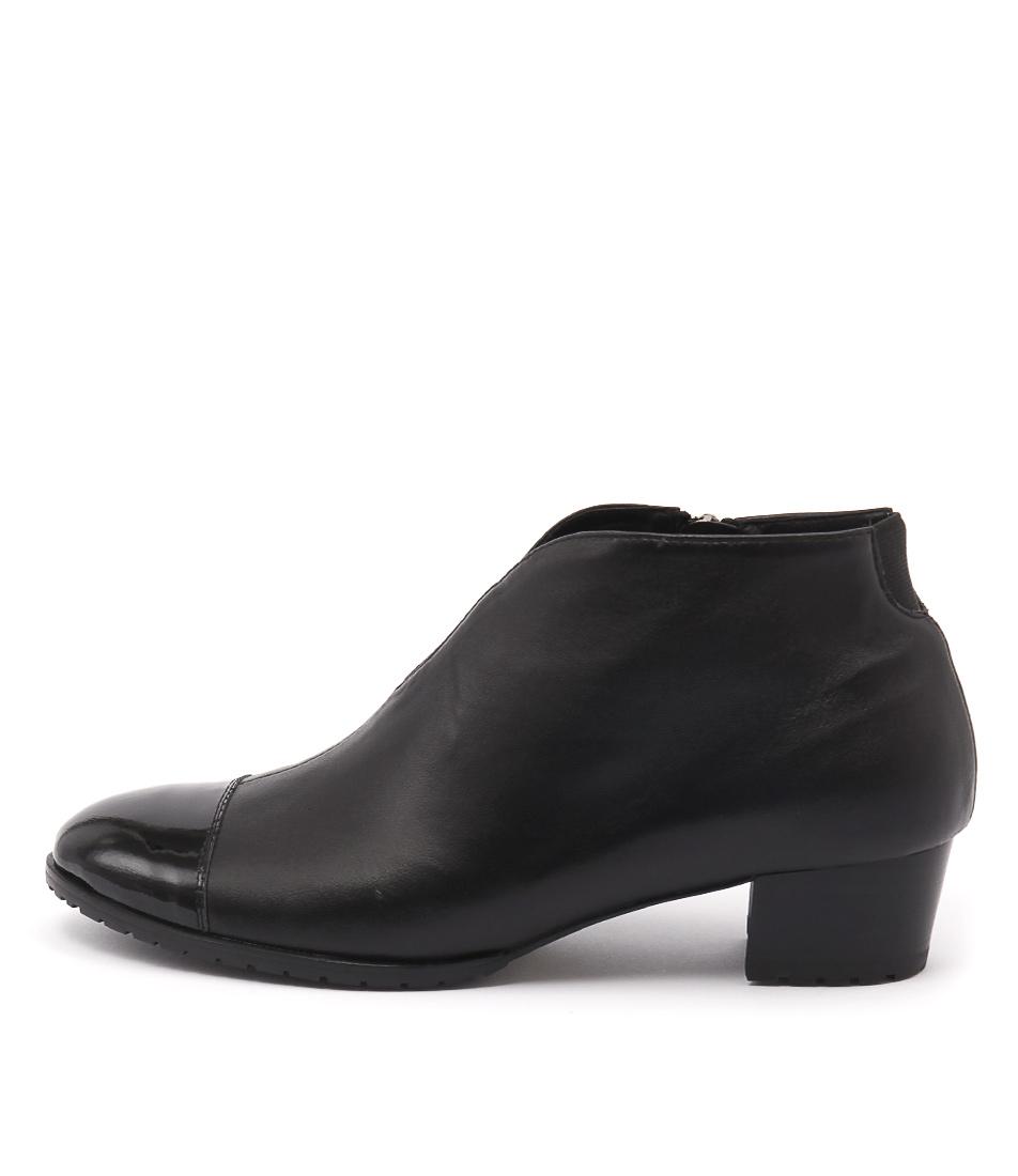 Gamins Tankel Black Ankle Boots