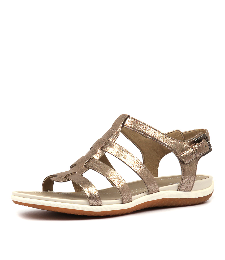16fb07f992fa Details about New Geox Sandal Vega A Lead Womens Shoes Casual Sandals  Sandals Flat