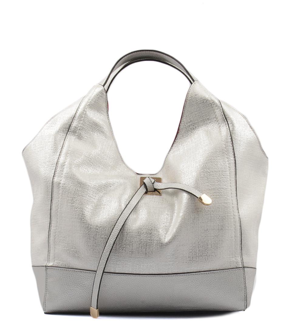 Gabee Lacey Silver Handbag