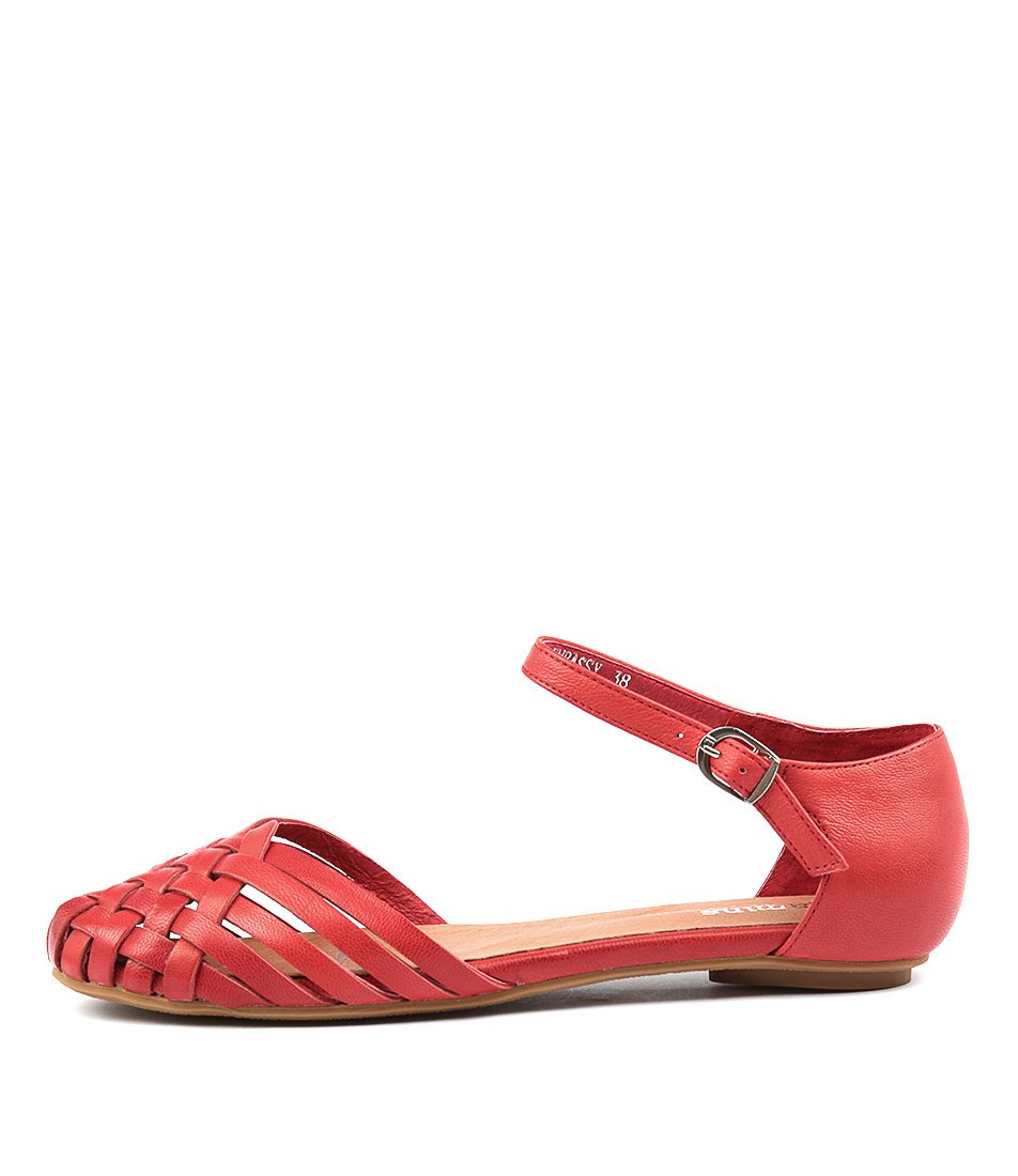 Gamins Embassy Red Casual Flat Sandals