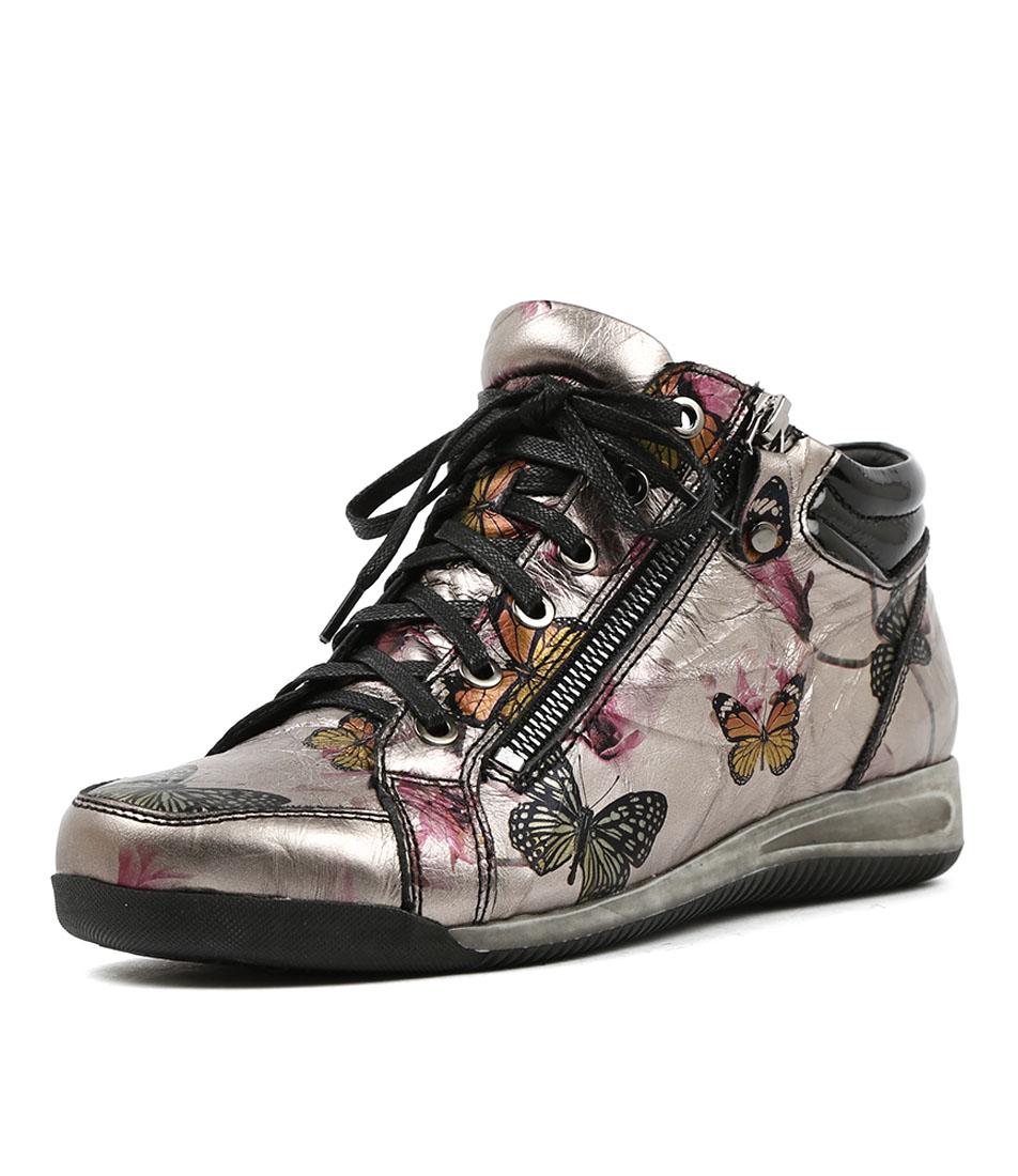 Gamins Hiho Pewter Black Sneakers