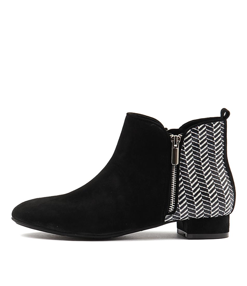 Gamins Horick Black Beige & Black Flat Shoes