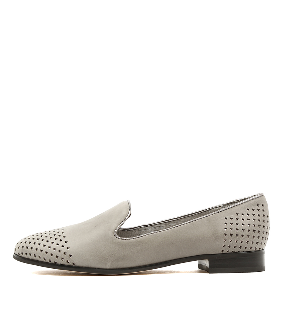 Gamins Jethro Grey Lt Pewter Flat Shoes