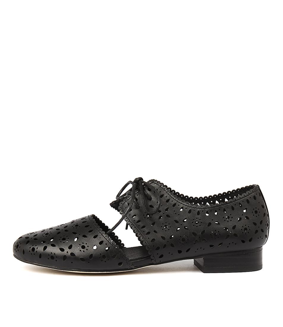 Gamins Adzukis Black Casual Flat Shoes
