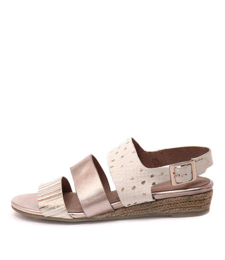 Gamins Calishna Ice & Rose Gold M Casual Flat Sandals