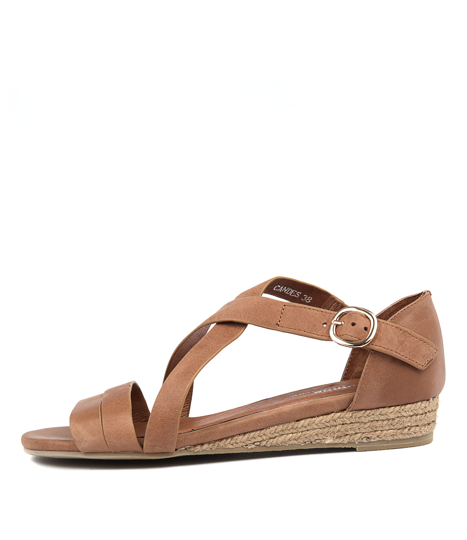 Buy Gamins Candes Tan Flat Sandals online with free shipping