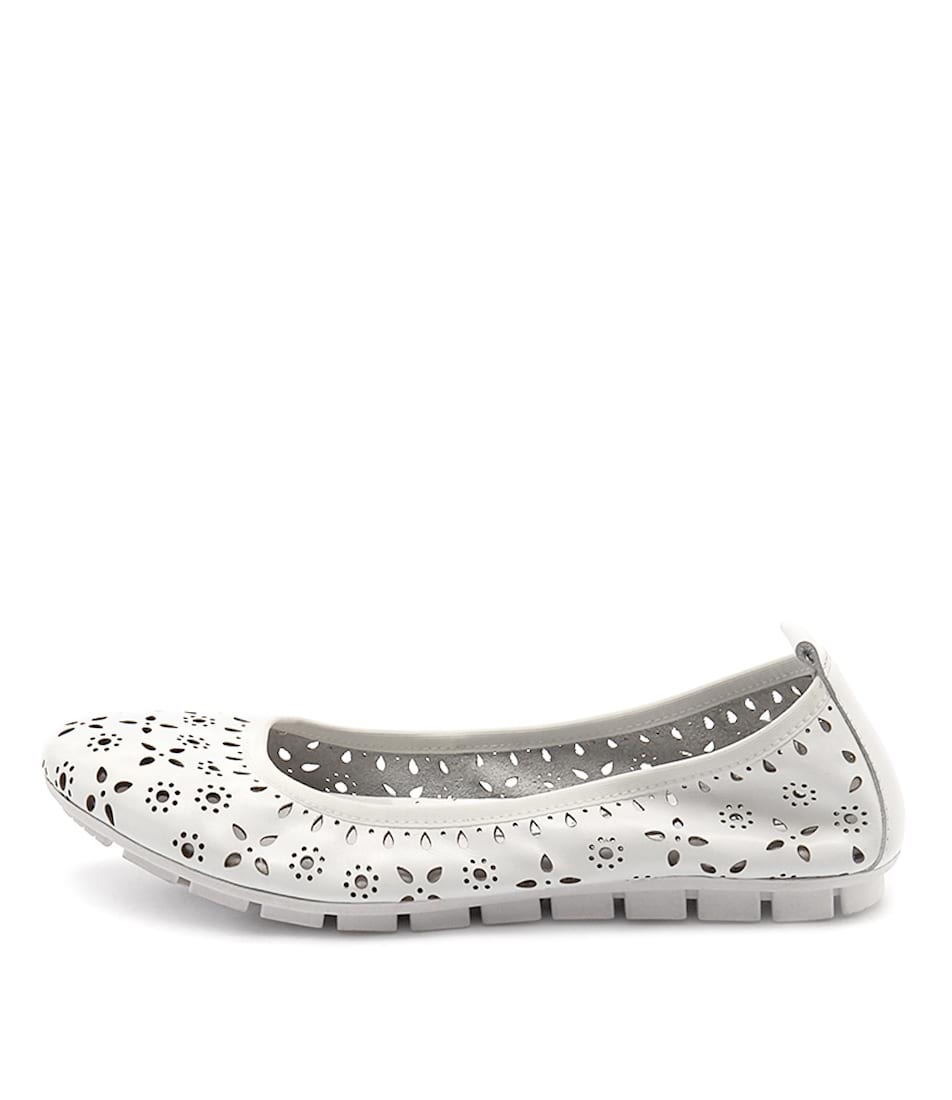 Photo of Gamins Gangsta White Flats womens shoes