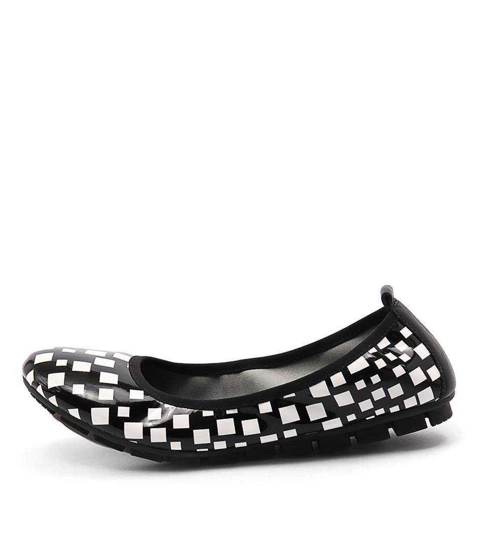 Gamins Gellsi Black & White Flat Shoes