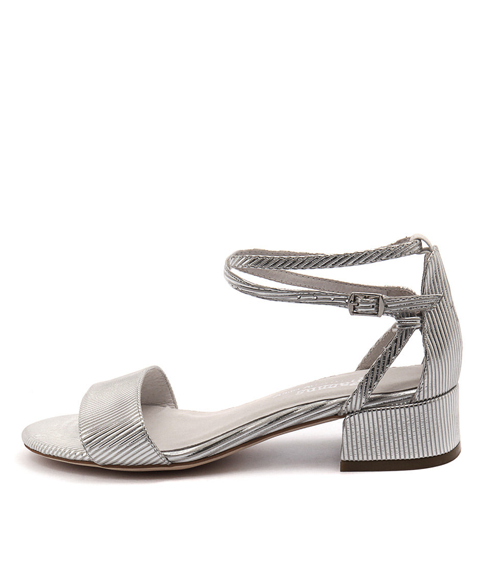 Gamins Kaftan White & Silver Casual Heeled Sandals