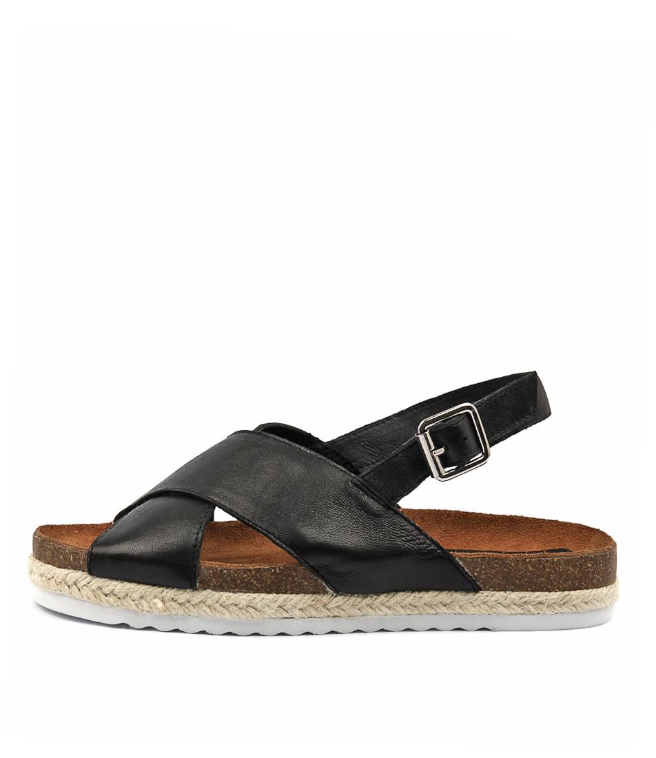 Gamins Keeps Black Heeled Sandals