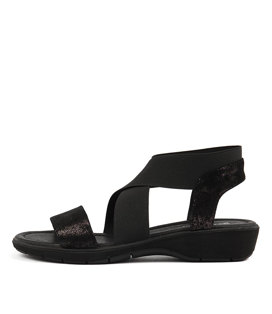 Gamins Kerno Black & Black Met Sandals
