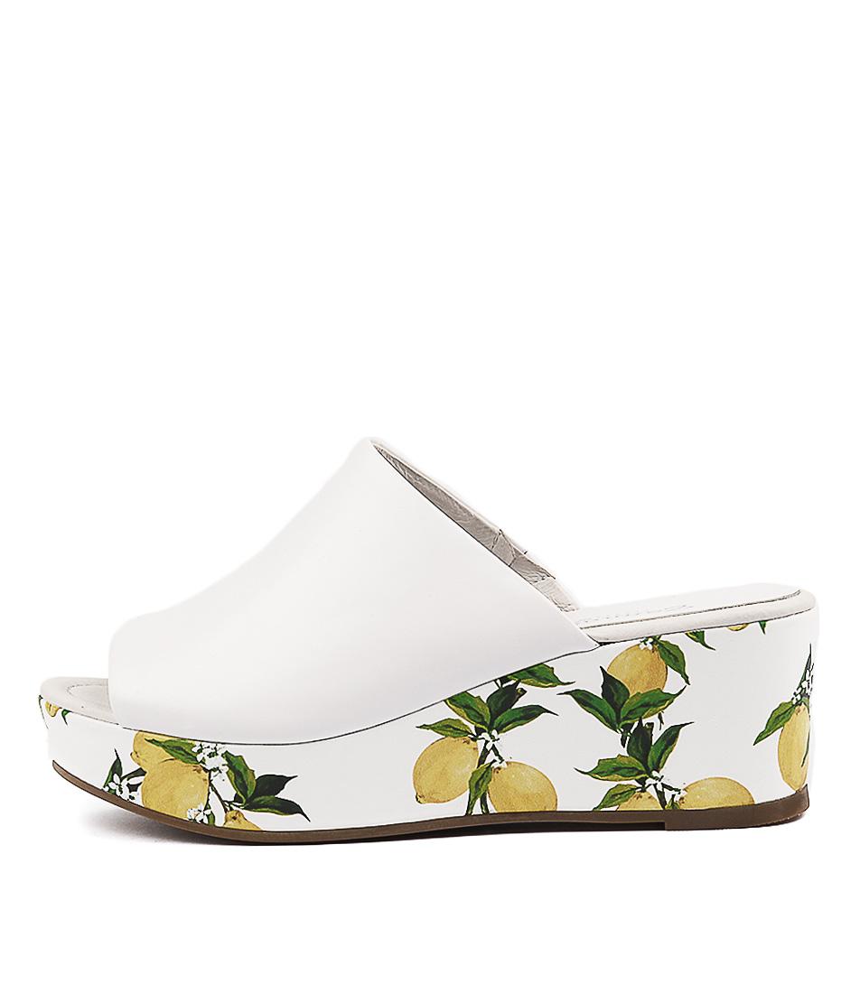 Gamins Soundan White Heeled Sandals